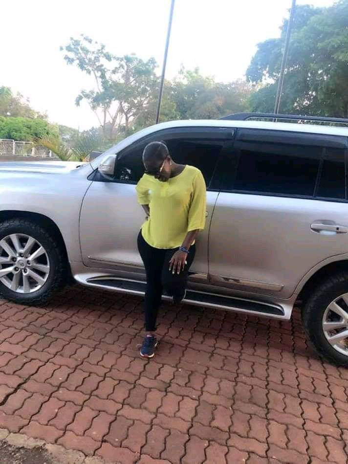 """I am Earning Big""""- Justine Nameere Parades Off Her New Car 